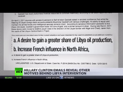 'Greater share of oil production' Hillary Clinton emails reveal motives of Libya intervention