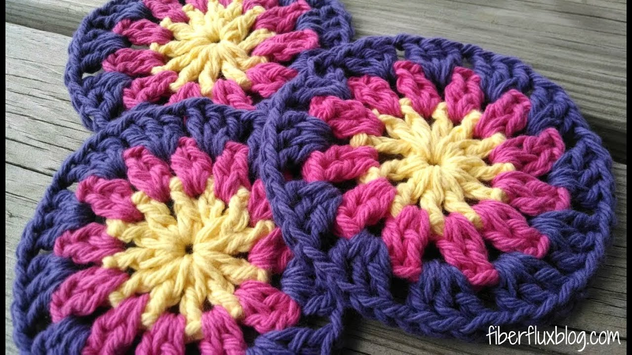 Episode 92 How To Crochet Happy Sun Coasters Youtube
