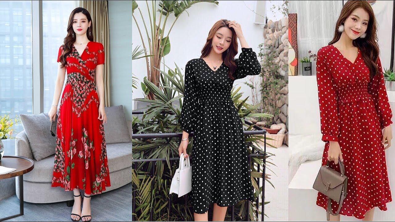 Đầm xòe dự tiệc đẹp, sang trọng qua gối – Top 5 Kiểu Đầm Xòe dễ thương 2019