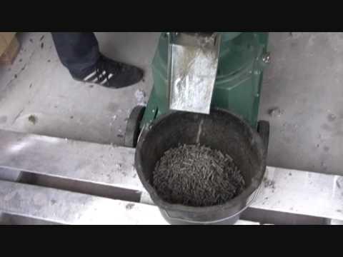 Pellet aus Papier mit Hammer-Mühle 7,5KW und Pellet-Presse 7,5KW