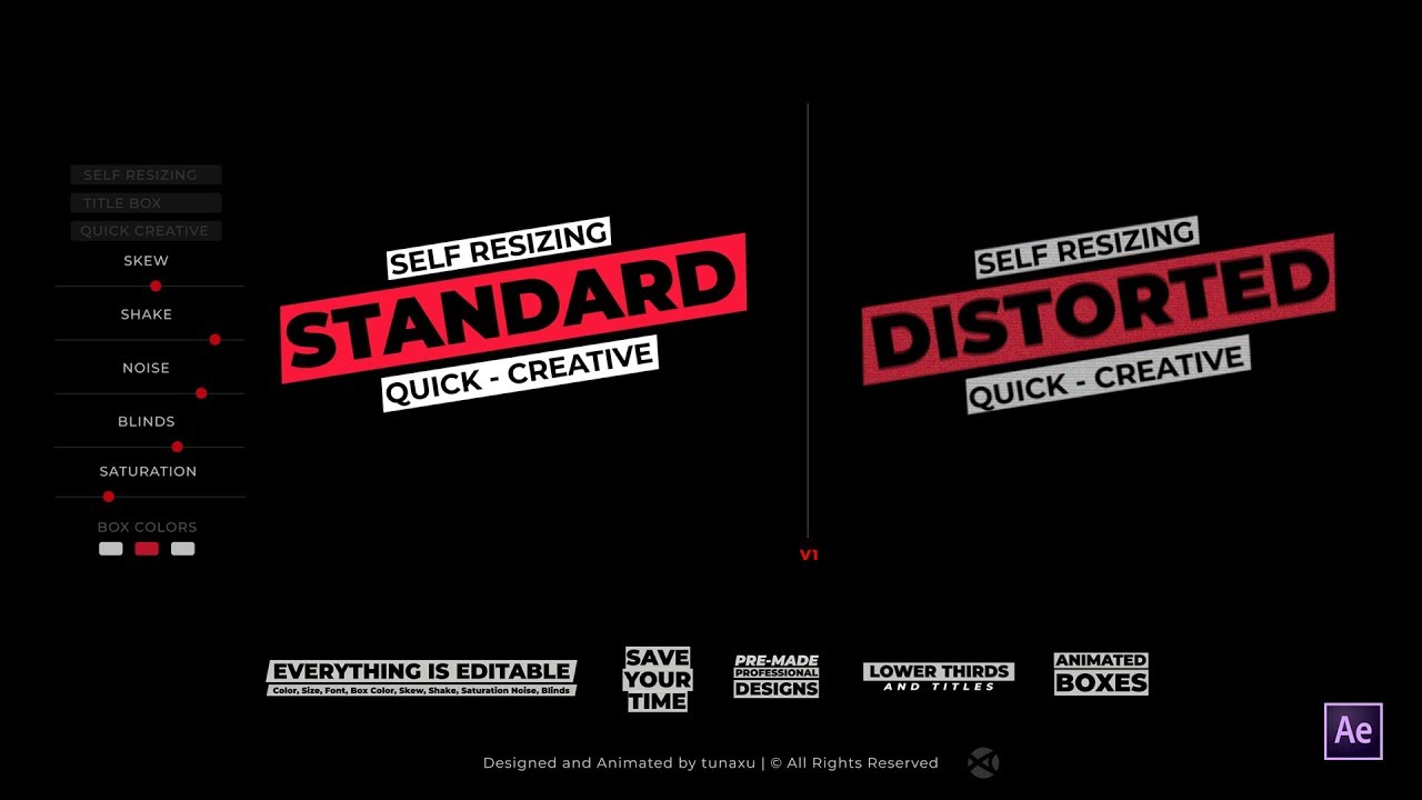 Title Box - Auto Resizing Titles and Lower Thirds - After Effects Template