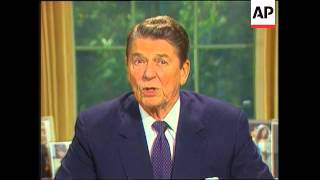 President Ronald Reagan Addresses the Nation after congressional hearings on Iran-Contra affair
