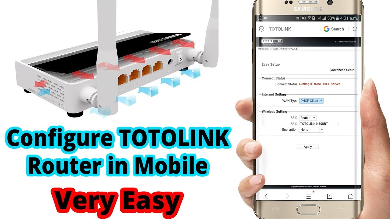 How to Setup Totolink Wireless Router N300RT (PPPoE) in Mobile - TOTOLINK  Router Configuration