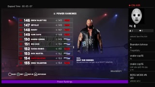 WWE 2k18 Universe mode episode Power Rankings for the week of 7\1\18