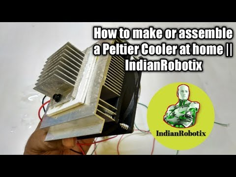 How to make or assemble a peltier cooler at home || IndianRobotix