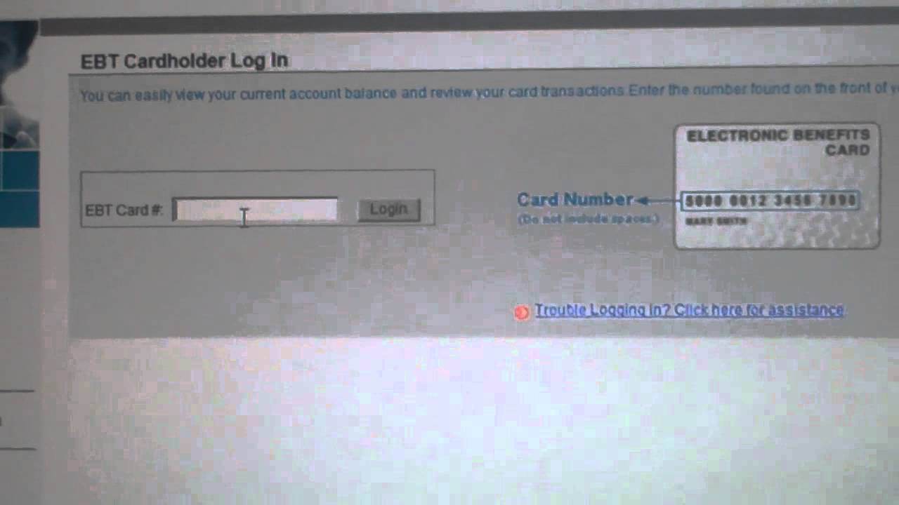 How to check your EBT Card balance - New Website