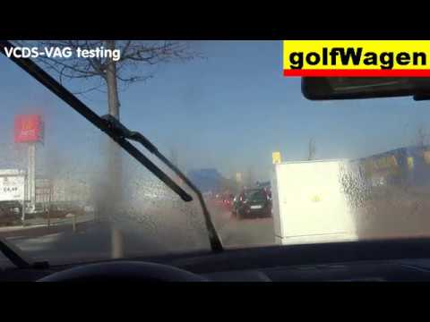 VW Golf 5 windshield wipers service position /before wipers change/ how to  put wipers in SP