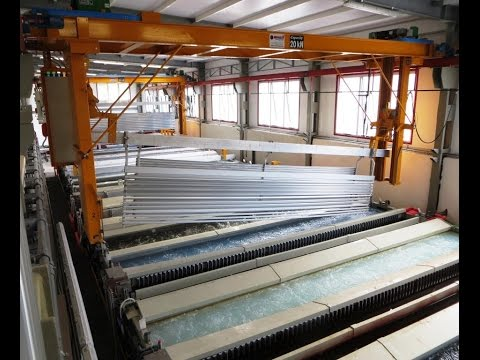 Video ANODIZING PLANT FOR PROFILES
