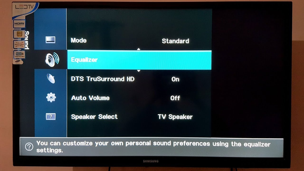 91d45efa4a0 Adjust Bass on Samsung LED TV - YouTube