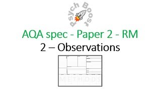 Observation - Research Methods (7.02) Psychology AQA paper 2