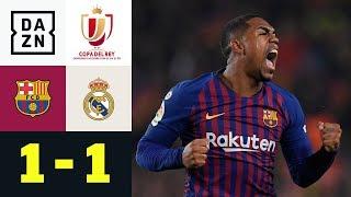 Malcom mittendrin im Clasico: FC Barcelona – Real Madrid 1:1 | Copa del Rey | DAZN Highlights