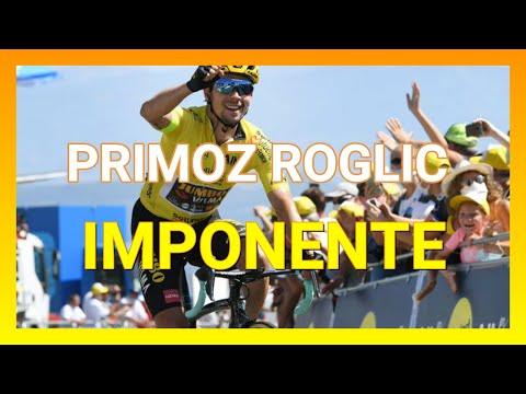 Etapa 2 Criterium Du Dauphine 2020 - Primoz Roglic imponente - Ciclismo de Ruta.