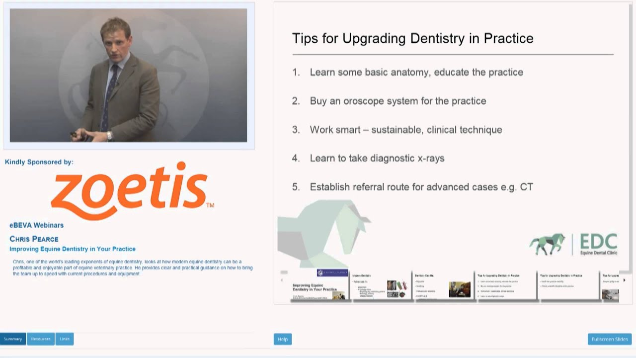 eBEVA Webinar: Chris Pearce - Improving Equine Dentistry in Your ...