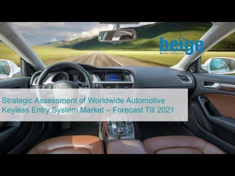 Strategic Assessment of Worldwide Automotive Keyless Entry System Market – Forecast Till 2021