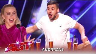 "Dom Chambers: The Australian ""Beer Chugging"" Magician | America's Got Talent 2019"