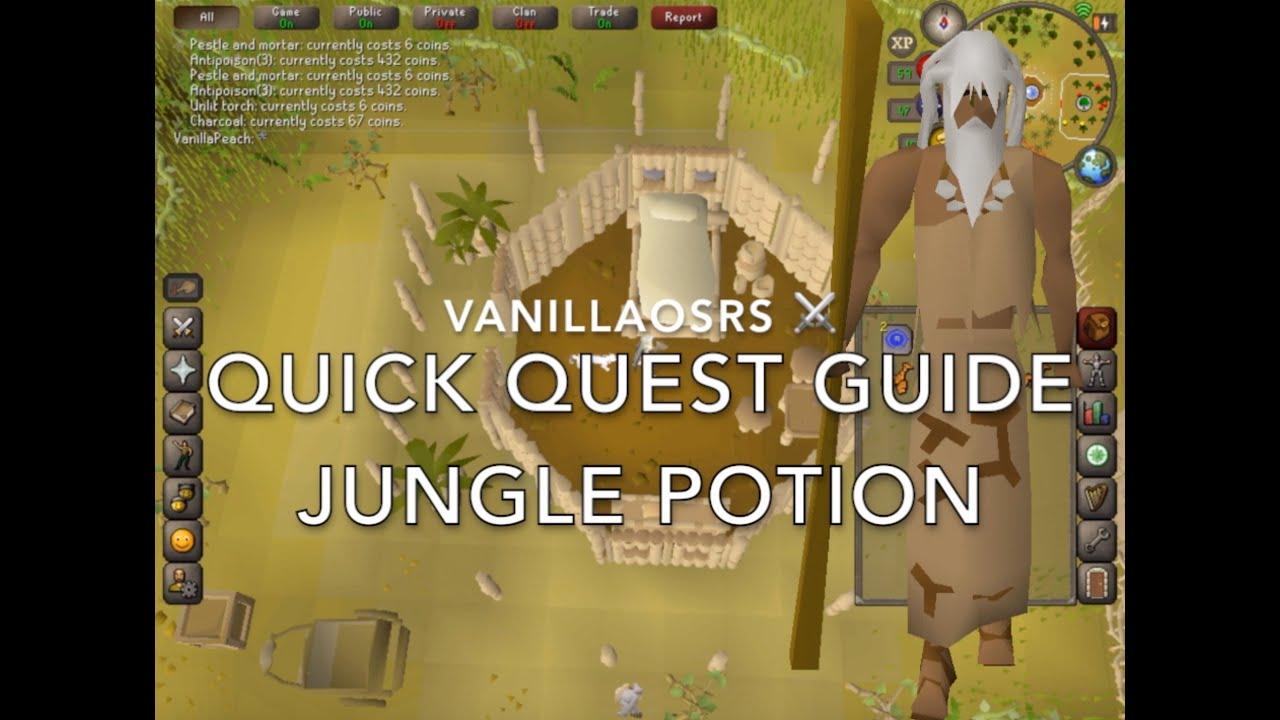 Jungle Potion Quick OSRS Quest Guide