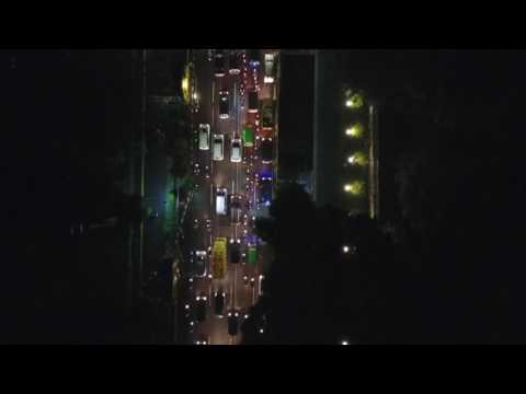 Bogor In The Night - Aerial Video