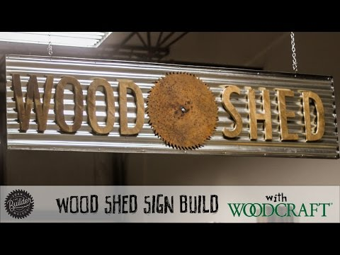 How To Make A Metal And Wood Sign