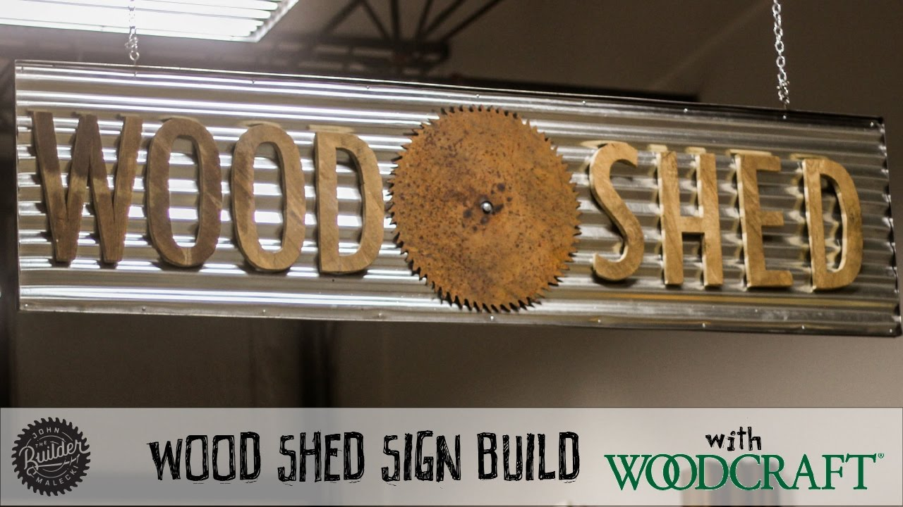 How To Make A Metal And Wood Sign You