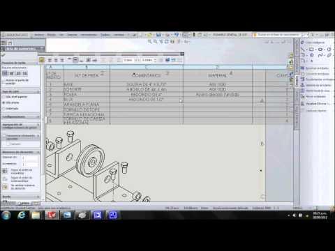 Como crear un plano con lista de materiales e isomtrico explotado