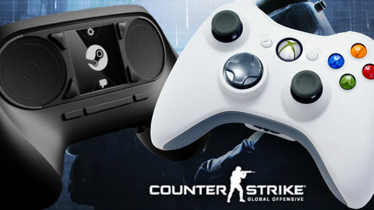 Steam Controller vs  360 Controller, Counter-Strike: Global Offensive (with  Steam Machine)