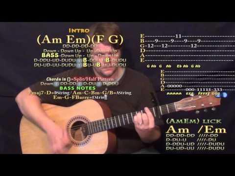 Jet Black Heart (5SOS) Guitar Lesson Chord Chart - Capo 3rd