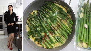 два Рецепта - Как Мариновать Спаржу - Яичница из Спаржи - Рецепт от Эгине - Heghineh Cooking Show