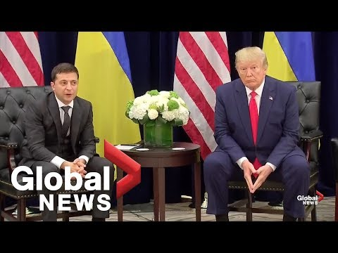 Trump meets with Ukrainian President after phone call transcript released | FULL