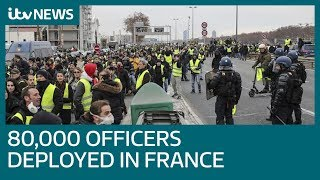 France to deploy 80,000 police as yellow vest protests continue | ITV News