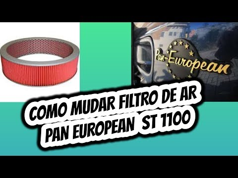 COMO MUDAR FILTRO DE AR | HONDA PAN EUROPEAN ST 1100
