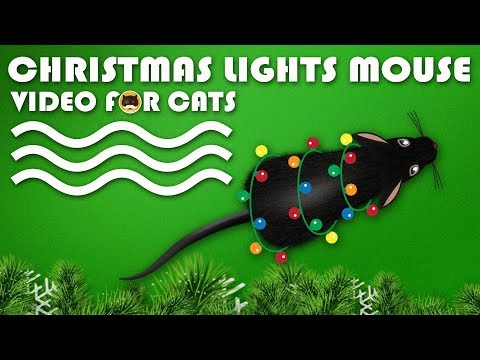 CAT GAMES  Christmas Lights Mouse! Video for Cats to Watch.