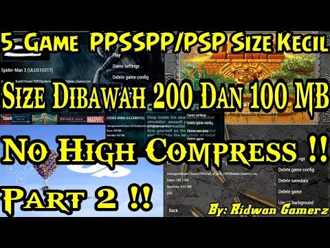 5 Game PPSSPP/PSP Size Kecil - Dibawah 200 & 100 Mb - No High Compress - Part 2 | Game PPSSPP