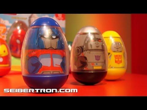 Weebles G1 Transformers Optimus Prime, Megatron, Bumblebee - Toy Fair 2010