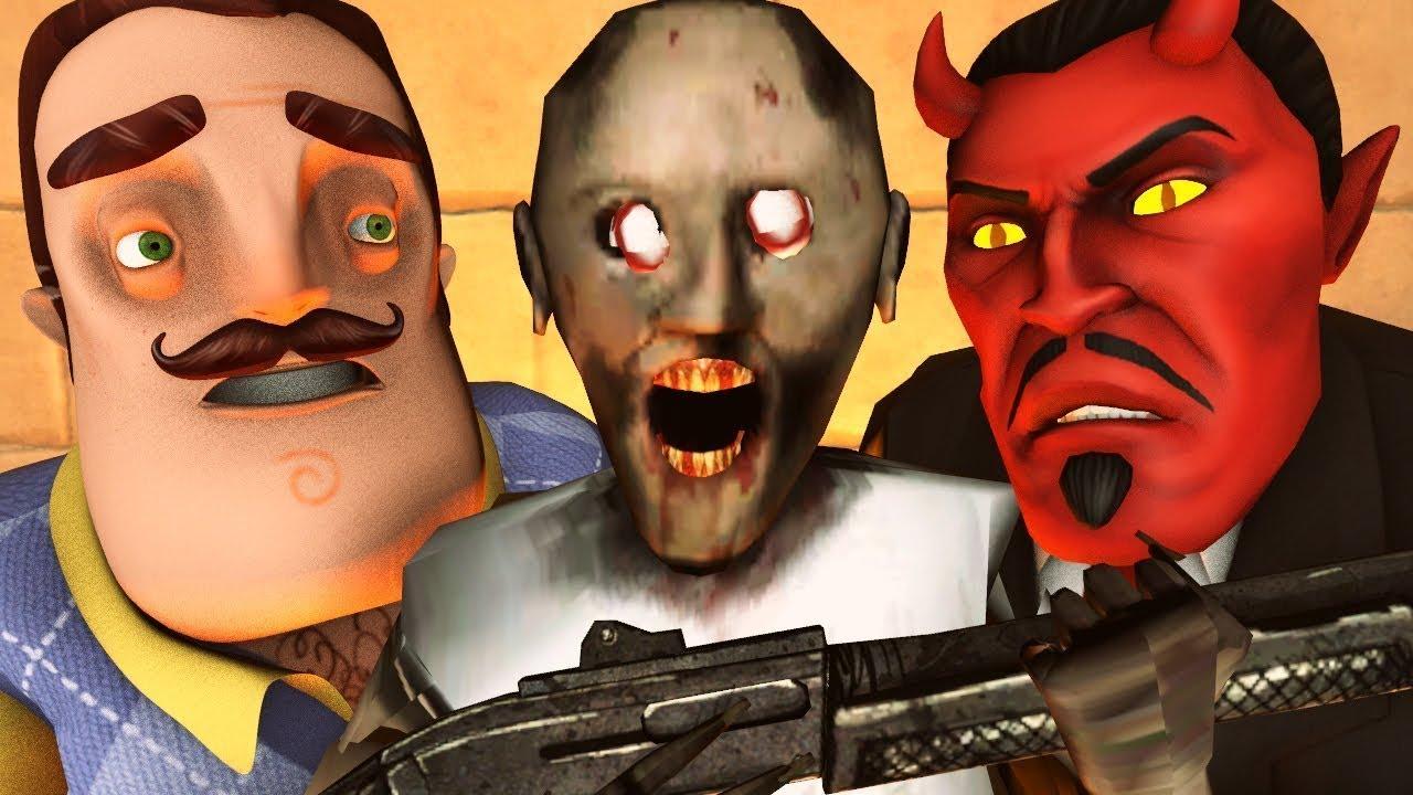 Granny Vs Hello Neighbor 2 (Español Vecino La Abuela 2 Terror Parodia Animada 3D)