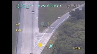 Police Helicopter Chases Suspect