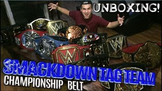 WWE SMACKDOWN TAG TEAM CHAMPIONSHIP TITLE BELT UNBOXING!