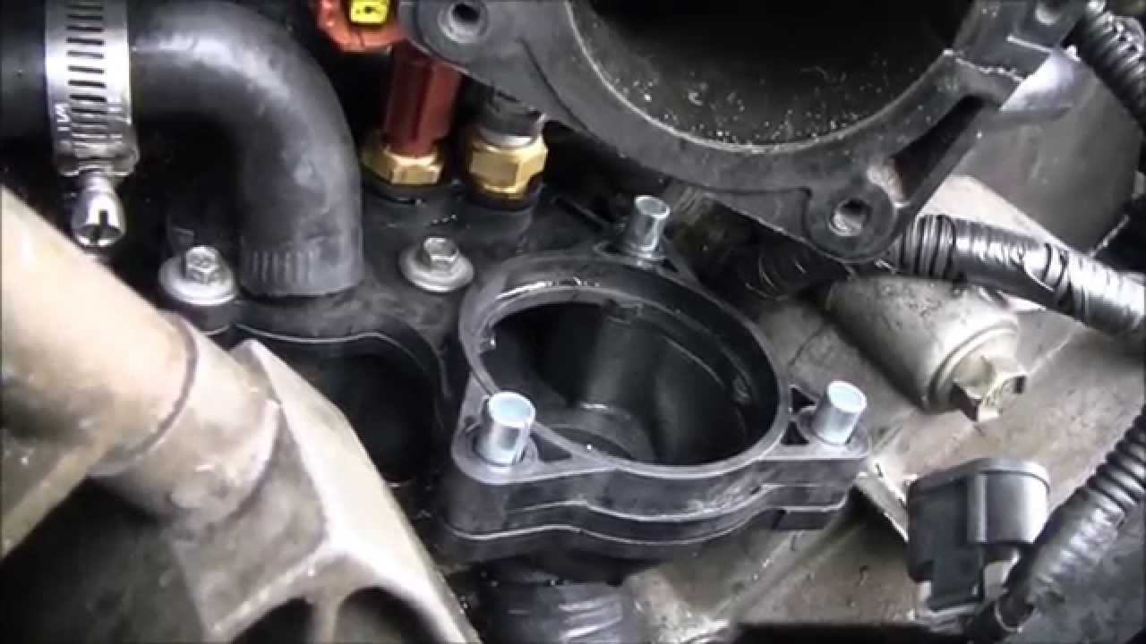 small resolution of thermostat housing replacement on ford 4 0 sohc youtube 2008 ford focus thermostat diagram ford thermostat diagram