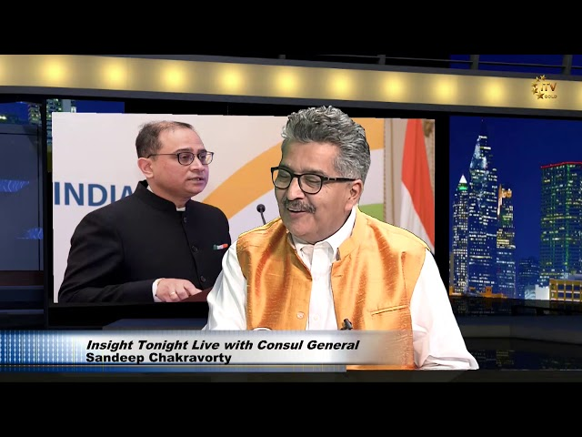 Counsel General Sandeep Chakravorty on USA-India Relations - Report by Ashok Vyas