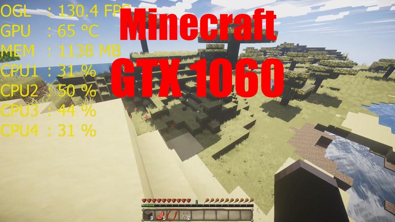 Minecraft ist immer noch prozessorlastig! | GTX 1060 | Wie viele FPS ...