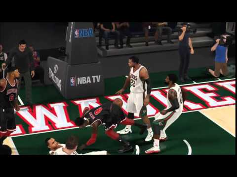NBA 2K15 Myleague Franchise Bulls Highlights Pt 1 - YouTube