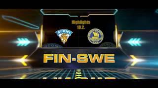 Highlights FIN-SWE 18.2.2018 // U17 Five nations tournament // Järvenpää, Finland