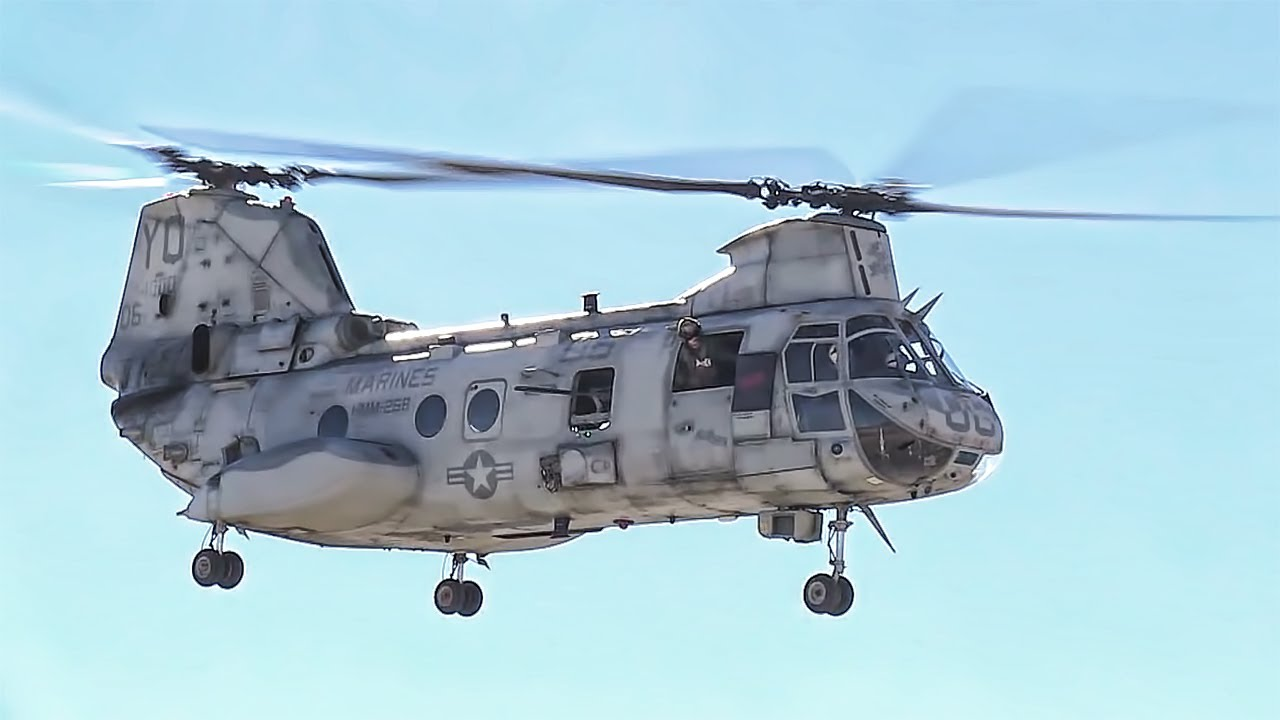 Sea Knight Helicopters In Action