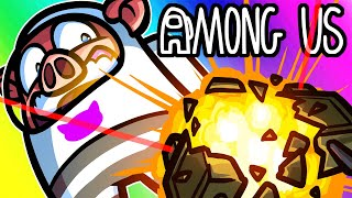 Among Us Funny Moments - The Imposters Get Land Mines?! (Claymore Mod)