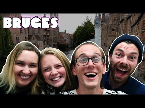 Visit Bruges at NiGHT! - Visit Belgium Travel Vlog #434