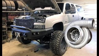 DURAMAX NEW EVEN BIGGER TURBO INSTALL!!! + Clearing Up Confusion...