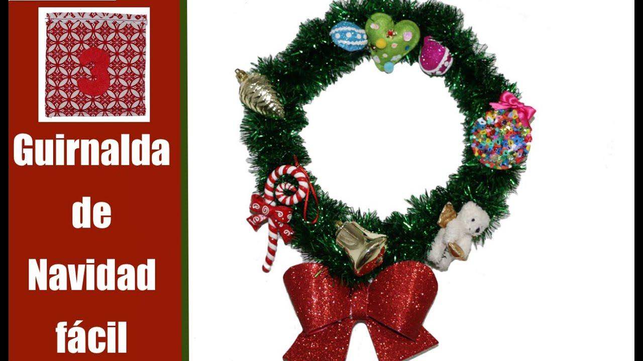 cmo hacer una guirnalda de navidad youtube - Guirnalda De Navidad