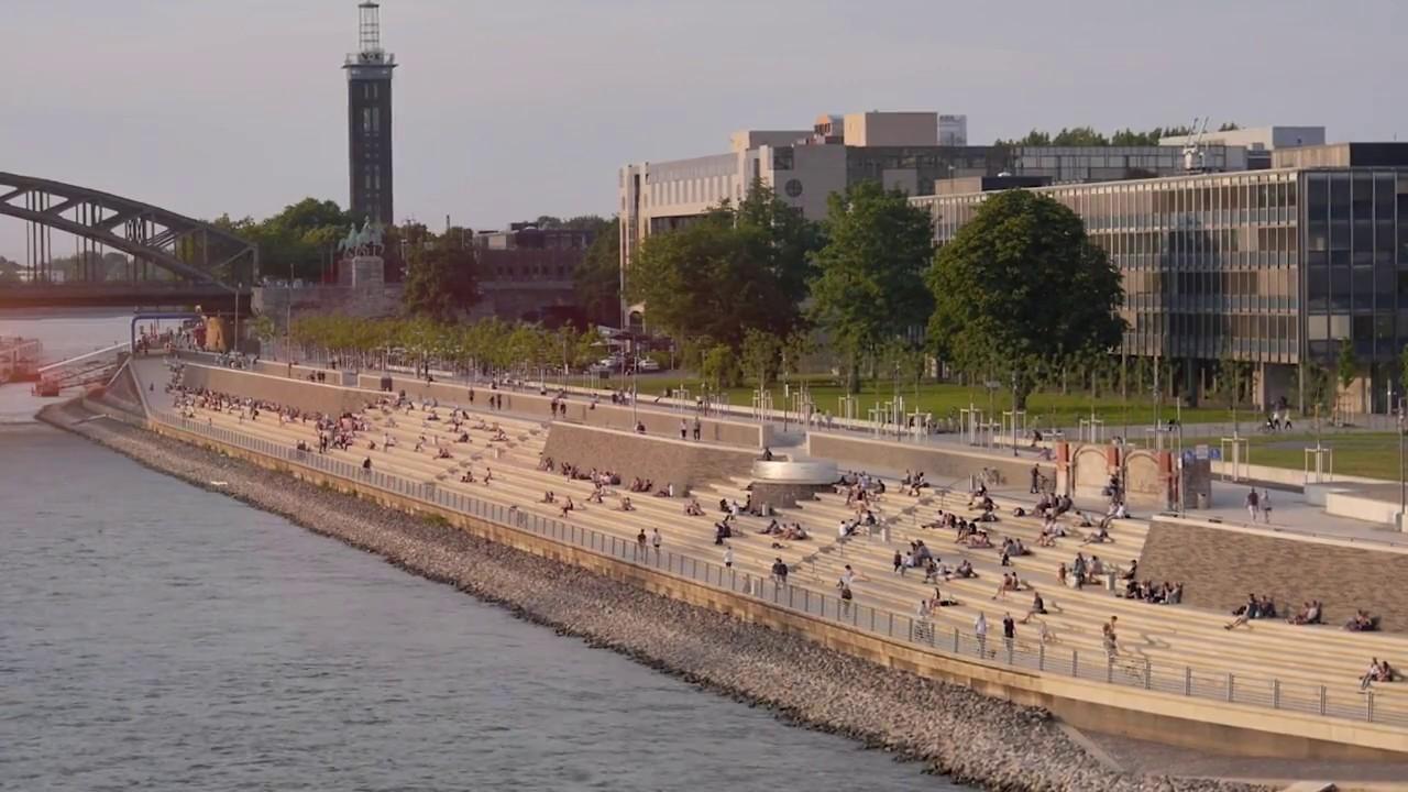 Landschaftsarchitekten Köln erster preis landschaftsarchitektur preis 2017 rheinboulevard köln