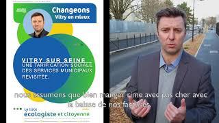Changeons Vitry en Mieux, révision de la tarification sociale.