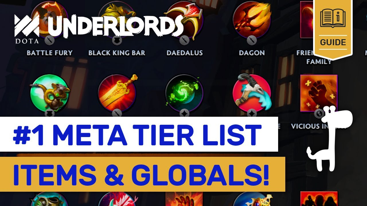 #1 New Meta ITEMS TIER LIST! Dota Underlords 6 Tier Lists Rank Up Builds  Explained!