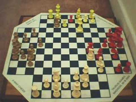 Chess Board 3d Wallpaper 4 Way Chess Game Youtube